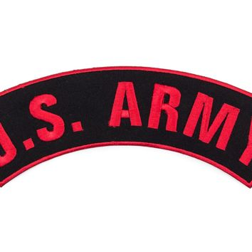 """""""US ARMY"""" Patch and Patches Top Rocker Red and Black go Army"""