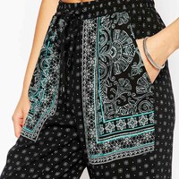 New Look Placement Print Trouser