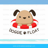 OOAK Premade Logo Design - Dog Float - Perfect for a pet accessories shop or a kids clothing brand