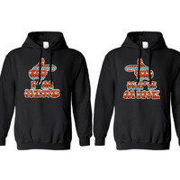 "Tribal Hands ""I'm Hers"" & "" He's Mine"" Hoodies for Couples"