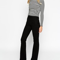 ASOS High Waisted Structured Flare Trousers at asos.com