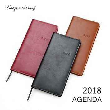 2018 Agenda Two pages a week weekly plan 60 sheets 80gsm paper stationery Journal notes pocketbook 12 Months Calendar Notebook