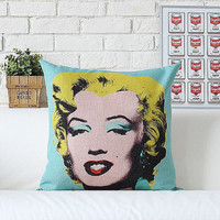 """Beauty Actress Legend - Design For Pillow Cases Linen 18"""" x 18"""" inches by RaffPeez"""