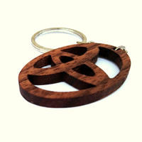 Wooden Toyota logo Keychain, Walnut Wood, Car Sign Keychain, Logo Keychain, Environmental Friendly Green materials