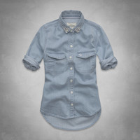 shine denim shirt