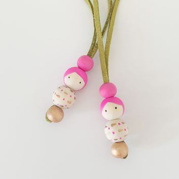 Set of 2 - Doll Friendship Necklace