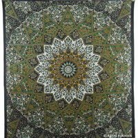 Indian Star Print Cotton Dorm Room Decor Tapestry Wall Hanging Bedspread Art