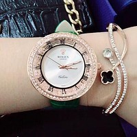 8DESS Rolex Woman Men Fashion Quartz Movement Wristwatch Watch