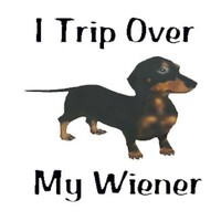 I Trip Over My Wiener (Colored Design) Mousepad