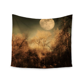 "Sylvia Coomes ""Full Moon "" Brown Nature Wall Tapestry"