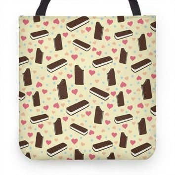 Ice Cream Sandwich Pattern Tote