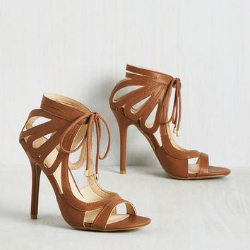 My Loops are Sealed Heel in Whiskey | Mod Retro Vintage Heels | ModCloth.com