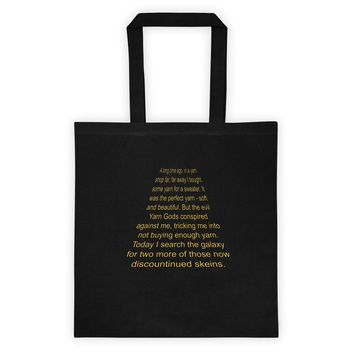 Funny Tote Bag for Knitter Crocheter ~ In a Yarn Shop Far, Far Away ~ Sci-fi Action Film Parody ~ Gift for Fiber Artist ~ Searching Galaxy