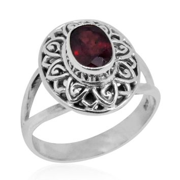 1.74 Carat Ruby Artisan Crafted Ring Solid 925 Sterling Silver