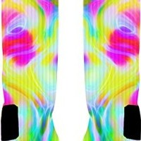Color Run Custom Nike Elite Socks (Medium 6-8)