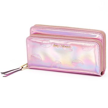 Juicy Couture Metallic Lips Wallet (Pink)
