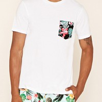 Tropical Print Pocket Tee