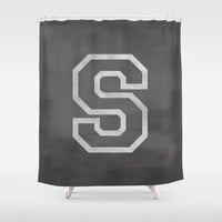 Letter S Shower Curtain by Dena Brender Photography