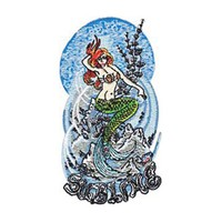 Sublime Men's Mermaid Embroidered Patch Multi
