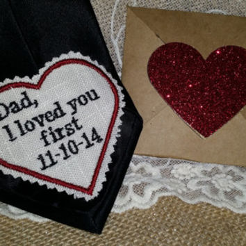 Gift for Groom.Rustic Gifts. Necktie. Dad Gift.Groom Gift.Tie Patch. Embroidered Patch. Tie Patches.Tie Patch. Father of Bride.Necktie