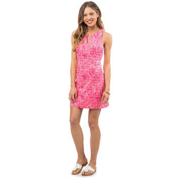 Sand Dollar Print Dress in Smoothie Pink by Southern Tide