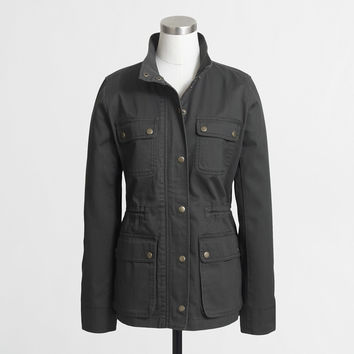 Factory cinched-waist field jacket : Cotton & Denim Jackets | J.Crew Factory
