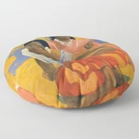 Affordable Art $300,000,000 When Will You Marry by Paul Gauguin Floor Pillow by podartist