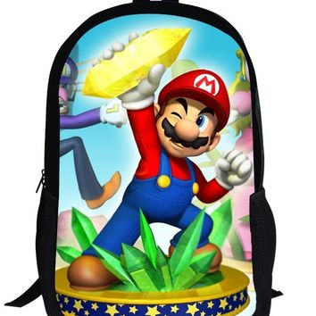 Super Mario party nes switch 16inch Popular Game  Bros Printing Backpack Set For Children School Bags Boys Girls Bookbag AT_80_8