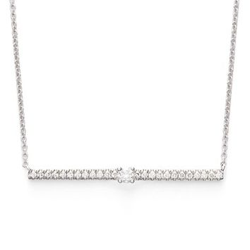 Women's Bony Levy Diamond Bar Pendant Necklace (Limited Edition) (Nordstrom Exclusive)