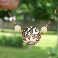 Sun Moon and Stars Necklace