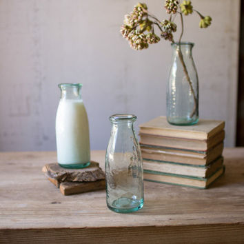 Recycled Clear Glass Carafe Bud Vase