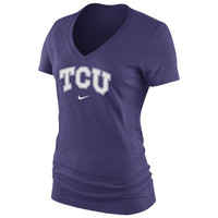 TCU Horned Frogs Nike Women's Arch Cotton V-Neck T-Shirt - Purple