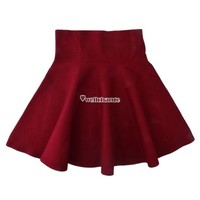 Sweet Women High Waist Ball Prom Short Skirt Flared Skater Pleated Party Dress