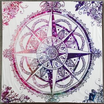 Indian Mandala 145x145cm Tapestry Hippie Wall Hanging Bohemian Bedspread Home Decor Free Shipping