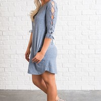 Luke Strappy Dress (Blue)