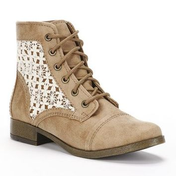 Candie's Lace-Up Ankle Boots - Women