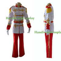 Disney Cinderella Prince Charming Costume White Cosplay Halloween Outfit Custom For Adult And Kids