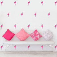 40 pcs set Hot sale Flamingo pcsttern PVC children's room wall stickers baby room decoration easily remove wall decal sticker