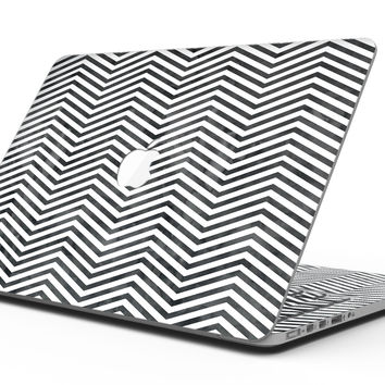 Black and Gray Watercolor Chevron - MacBook Pro with Retina Display Full-Coverage Skin Kit