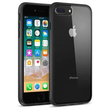 DCCKV2S Maxboost HyperPro iPhone 8 Plus Case / iPhone 7 Plus Case [GXD-Gel Drop Protection] Heavy Duty Hybrid Cover Apple iPhone 8 Plus,7 Plus,6s Plus,6 Plus Enhanced Grip TPU Cushion/PC Back- Jet Black/Clear