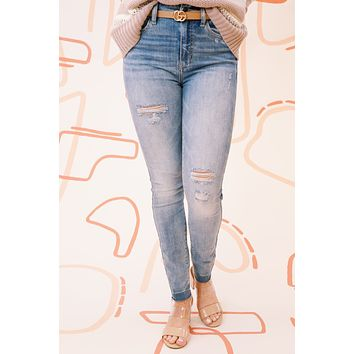 Bella Super High Rise Skinny Ankle, Light Why So Serious