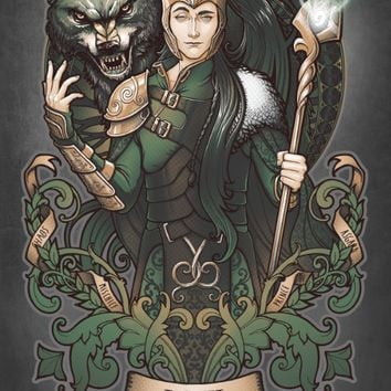 House of Loki: Sons of Mischief Art Print by Medusa Dollmaker | Society6