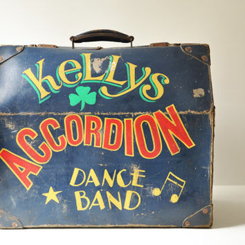 Vintage Accordion Case - Kelly's Accordion Dance Band