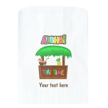 Kids Hawaiian Luau Party Guest Favor Favor Bag