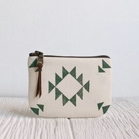 Ecofriendly Iphone Case, Southwestern Print in Green