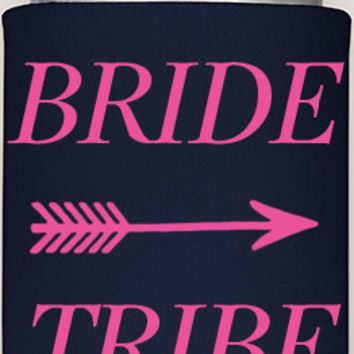 bride tribe coozies, wedding coozies, bachelorette wedding coozies, party coozies, koozies party bachelorette, bachelor parties, girls gifts