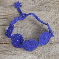 Navy  Crochet  Bracelet  From  Natural  Life