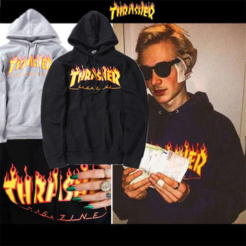 Thrasher Streetwear Skateboard Men Women Sweatshrit Unisex Letter Print Hoody 2017 Autumn Tracksuit Fashion Pullover ZOOTOP BEAR