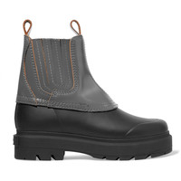 Drew coated-leather and rubber ankle boots | Alexander Wang | UK | THE OUTNET