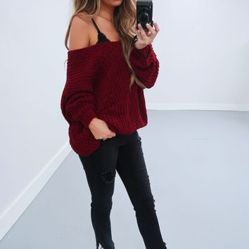 Restock: The Kelsey Sweater: Oxblood